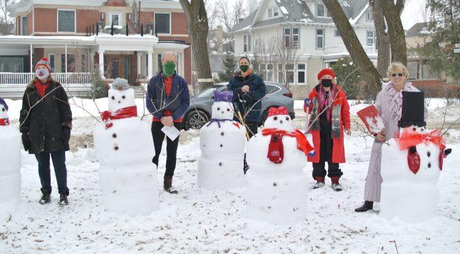 Peanut Park ENTERS SNOWMAN CONTEST